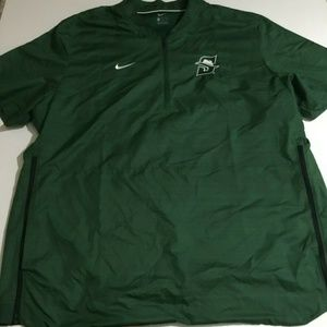 Nike Stetson Hatters 2XL Green Windbreaker Jacket